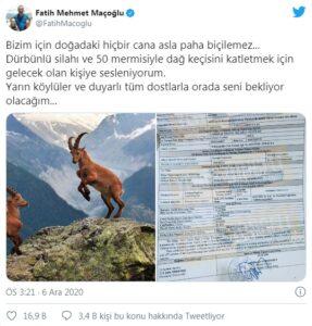 Maçoğlu, Munzur Dağlarında Ava Çıkacak ABD'li Avcıya Postayı Koydu 2 - 258852 538x562 1