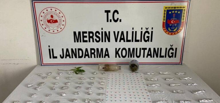 Mersin'de bir kişi çok miktarda uyuşturucu ile yakalandı