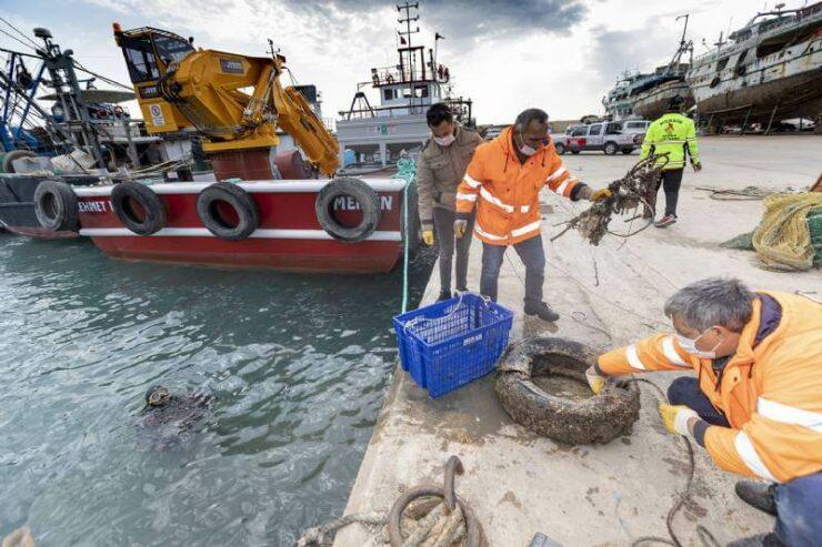 Mersin'de Deniz Dibi Temizlik Çalışmaları 2 - mersinde deniz dibi temizlik calismalari 2