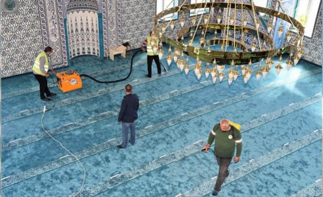 Toroslar'da Camiler Ramazan Ayına Hazırlanıyor