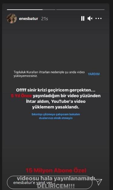 Youtube'dan Enes Batur'a Video Yükleme Yasağı! 2 - youtubedan enes batura video yukleme yasagi 2