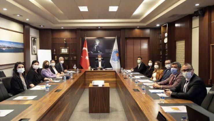 İşgücü Piyasası Koordinasyon Kurulu Üyeleri Başkan Vahap Seçer'i Ziyaret Etti