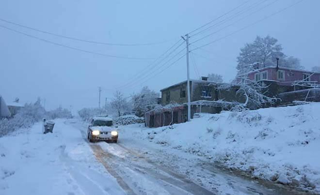Mersin'in Yüksek Kesimlerinde Nisan Ayında Kar Yağışı