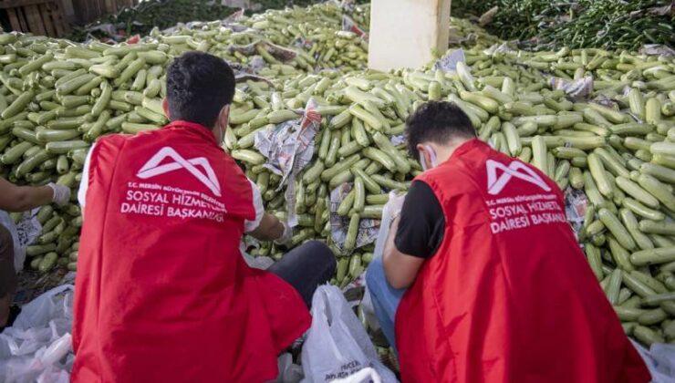 Mersin Büyükşehir, İhtiyaç Sahibi Ailelere 90 Ton Sebze Dağıttı