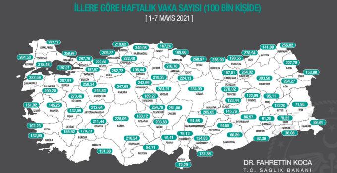 Mersin Koronavirüs Son Durum: 1-7 Mayıs Haftalık Vaka Sayısı Haritası Açıklandı!