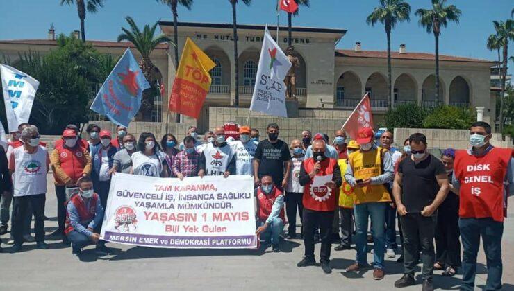 Mersin'de 1 Mayıs Kutlaması