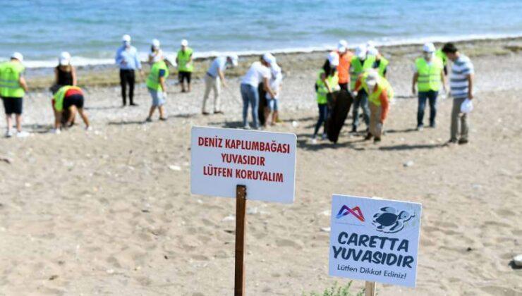 Mersin Büyükşehir'den Carettalar İçin Sahil Temizliği