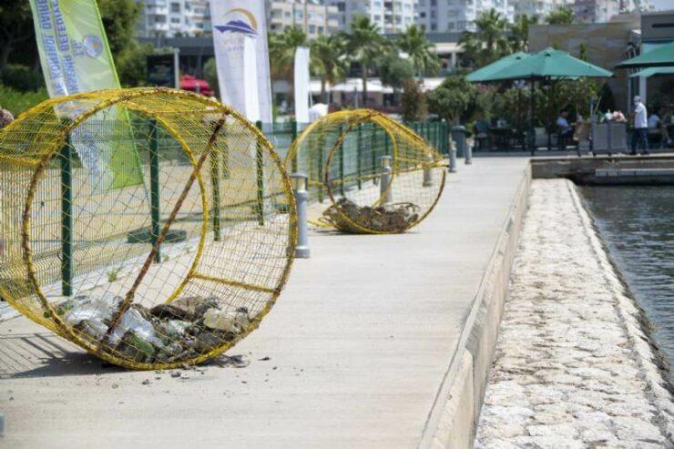 Mersin Büyükşehir'den Marina'da Deniz Temizliği 4 - mersin buyuksehirden marinada deniz temizligi