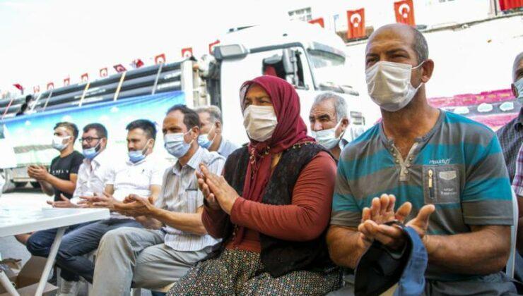 Mersin Büyükşehir'den Üreticiye Sulama Borusu Desteği
