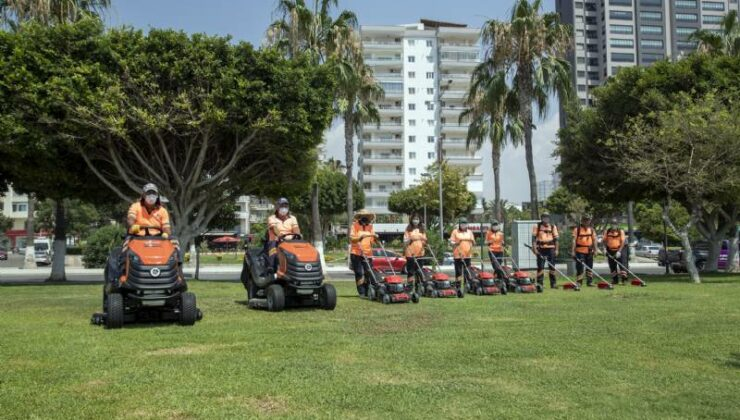 Mersin Büyükşehir'e 106 Yeni Çim Biçme Makinesi