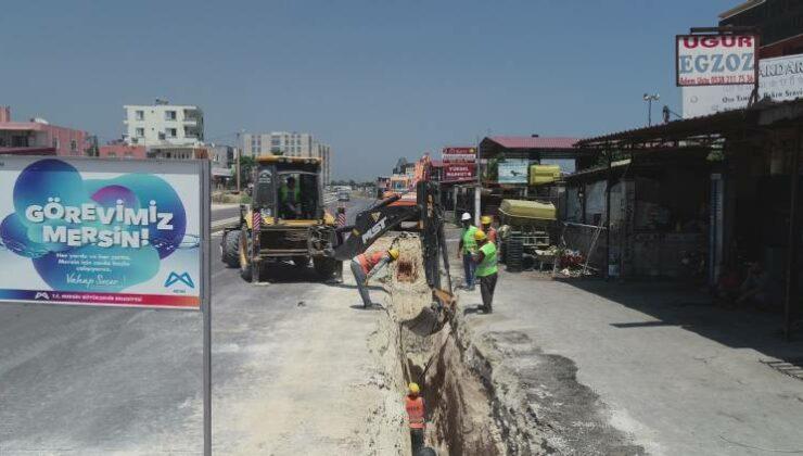 MESKİ'nin Kanalizasyon Çalışmaları Hız Kesmeden Devam Ediyor